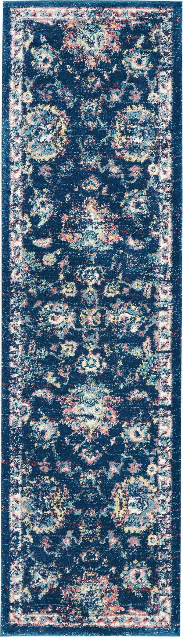Nourison FUSION FSS15 NAVY/PINK Area Rug