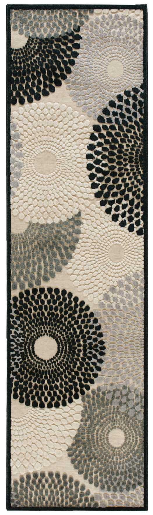 Nourison GRAPHIC ILLUSIONS GIL04 PARCHMENT Area Rug
