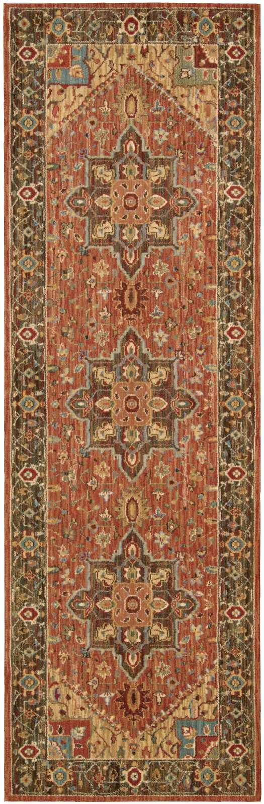 Nourison LIVING TREASURES LI01 RUST Area Rug