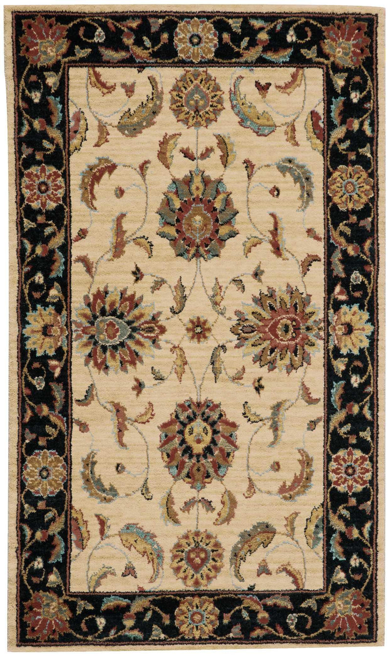 Nourison LIVING TREASURES LI04 IVORY/BLACK Area Rug