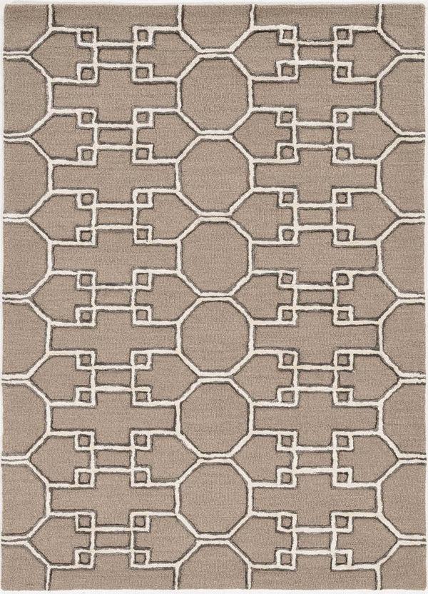 kas rugs Libby Langdon Upton Mocha-Ink Asian Trellis 4305 Mocha Area Rugs