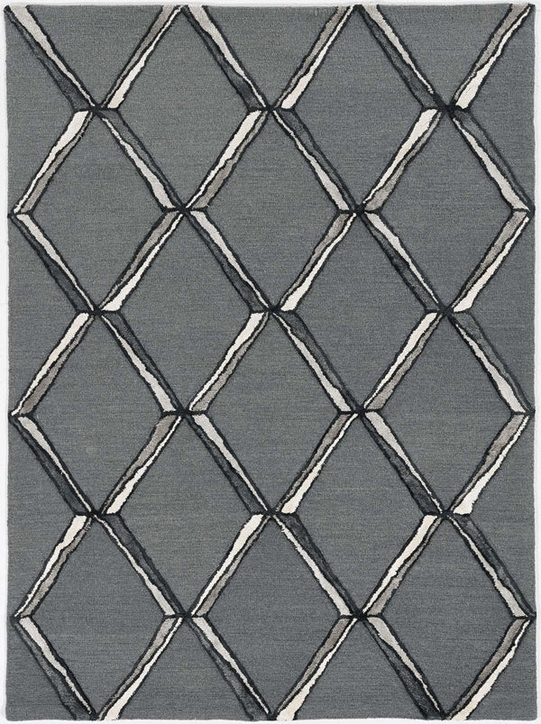 kas rugs Libby Langdon Upton Charcoal-Silver Mod Scape 4308 Charcoal-Silver Area Rugs