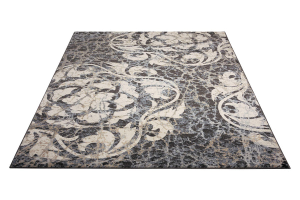 Nourison MAXELL MAE10 IVORY/CHARCOAL Area Rug