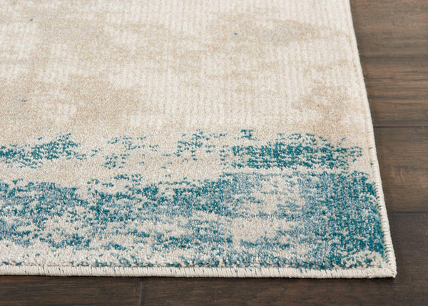 Nourison MAXELL MAE13 IVORY/TEAL Area Rug