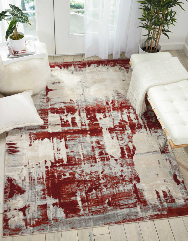 Nourison MAXELL MAE14 IVORY RED Area Rug