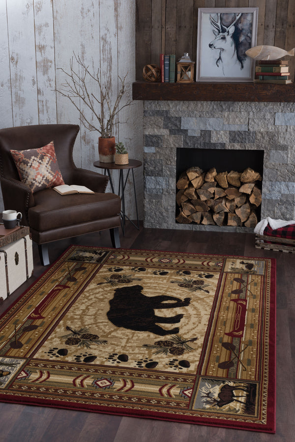 Tayse Nature 6550 Red Area Rug