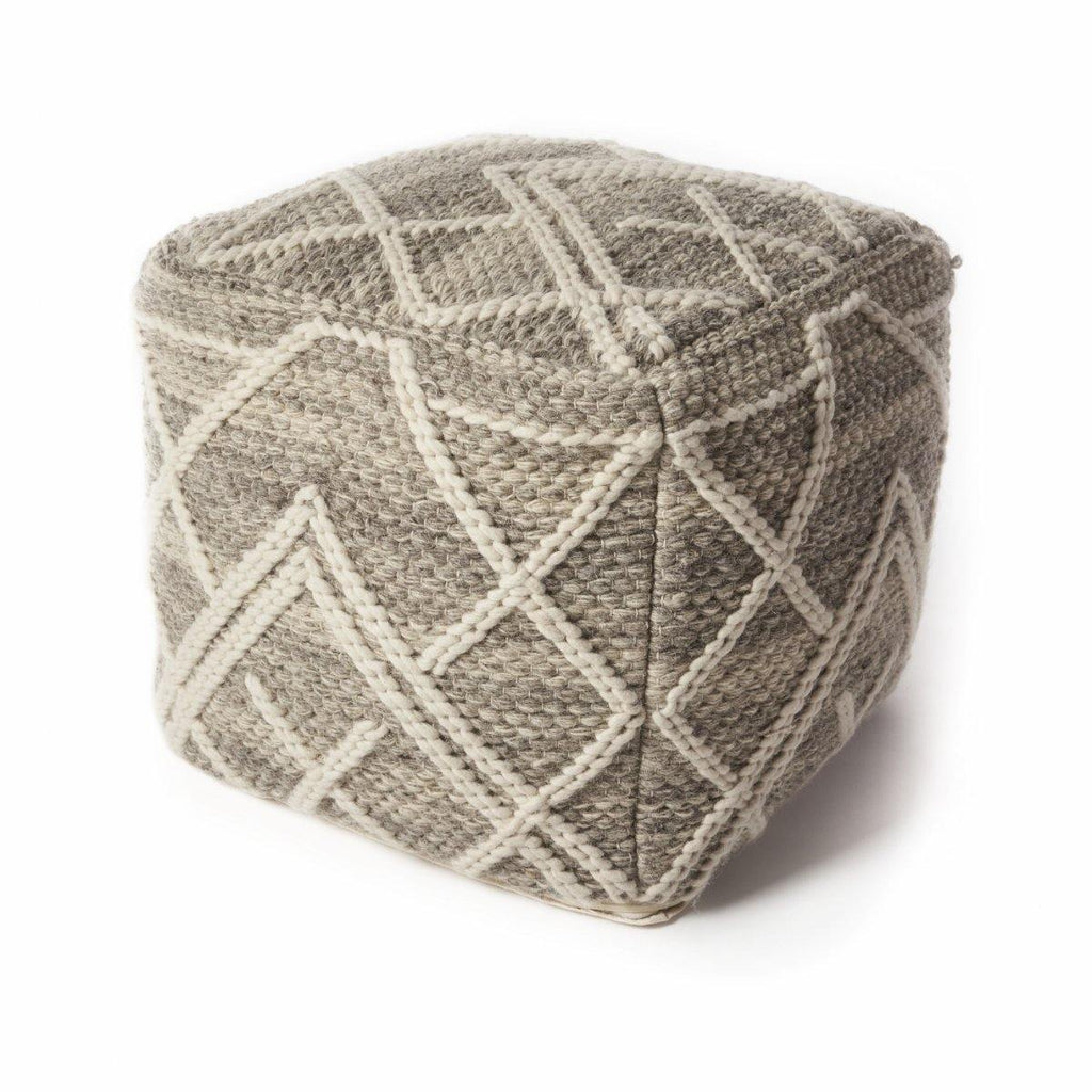 Kas Pouf F861 Grey Crossways