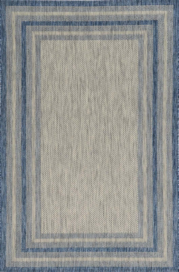 kas rugs Provo Grey/Denim Cape Cod 5756 Grey/Denim Area Rugs