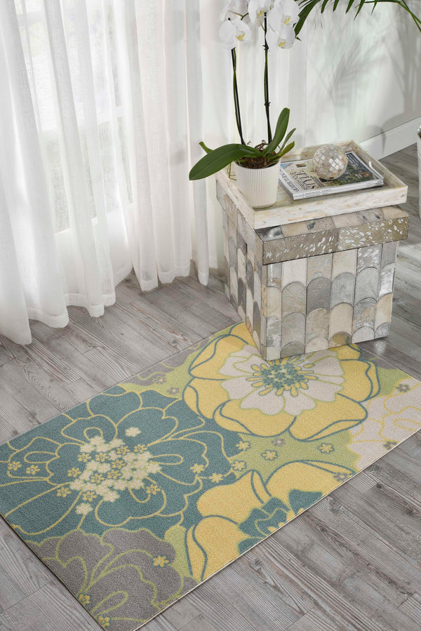 Nourison HOME & GARDEN RS021 GREEN Area Rug