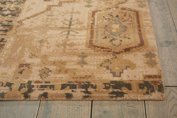 Nourison SILK ELEMENTS SKE13 BEIGE Area Rug