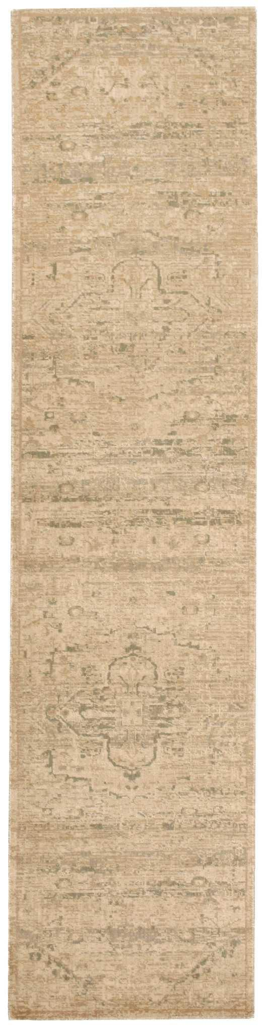 Nourison SILK ELEMENTS SKE14 SAND Area Rug