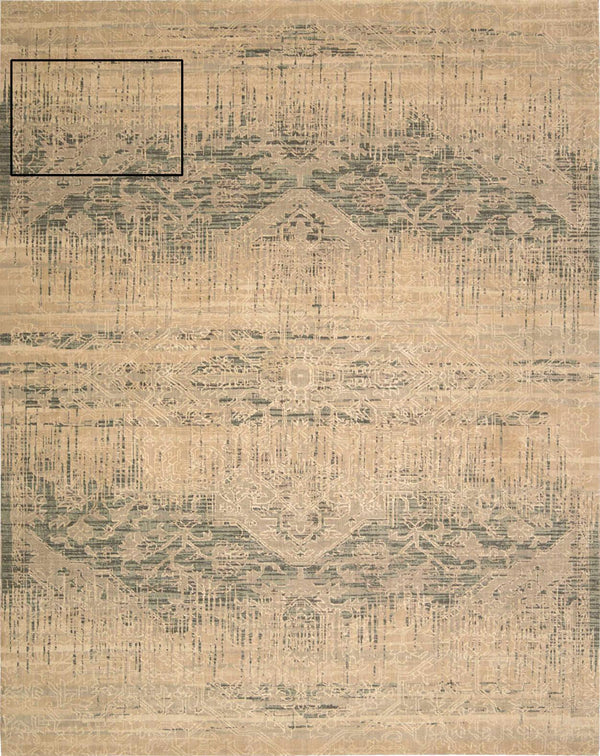 Nourison SILK ELEMENTS SKE27 BEIGE Area Rug
