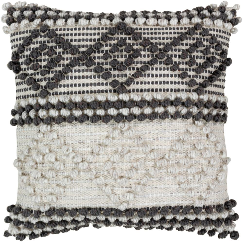 Surya Anders ADR-002 Charcoal Pillow Cover