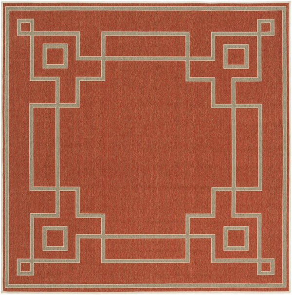 Surya Alfresco ALF-9631 Rust Area Rug