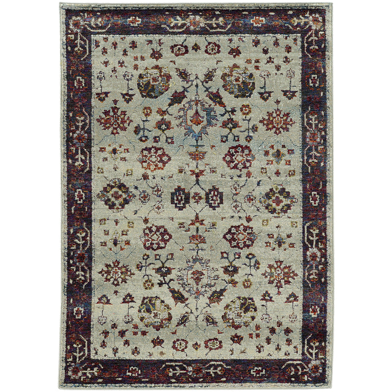 Sphinx By Oriental Weavers Andorra 6842D Stone/ Red Area Rug