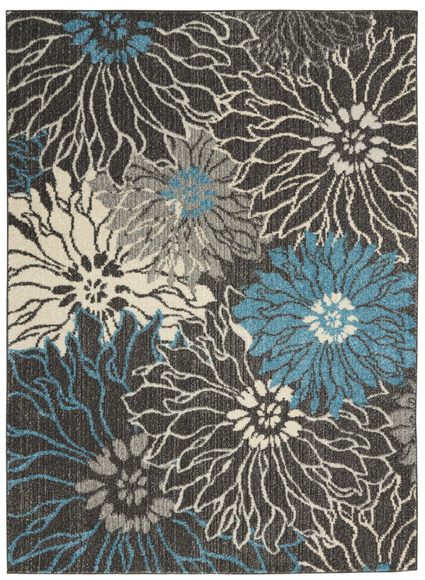 Nourison Passion PSN17 Charcoal/Blue Area rug