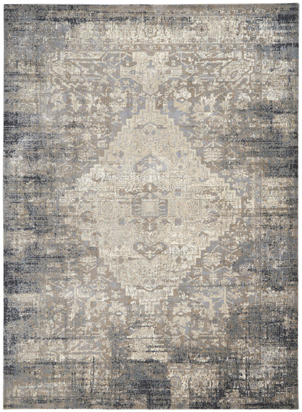 kathy ireland Moroccan Celebration KI3M2 Grey/Slate Area rug