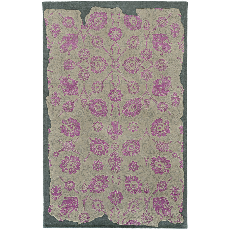 Pantone Color Influence 45104 Grey/ Pink Area Rug - rug store usa