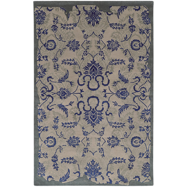 Pantone Color Influence 45105 Grey/ Blue Area Rug - rug store usa