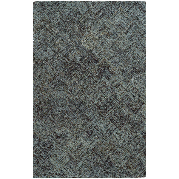 Pantone Colorscape 42110 Charcoal/ Blue Area Rug - rug store usa