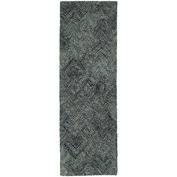 Pantone Colorscape 42110 Charcoal/ Blue Area Rug - The Rug Store