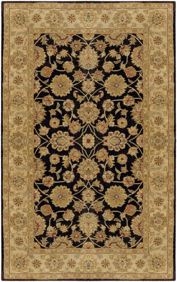 Surya Crowne CRN-6009 Black Area Rug