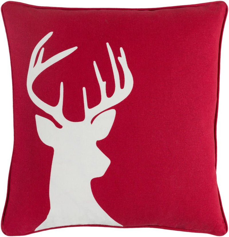 Artistic Weavers Holiday HOLI-7271 Bright Red Pillow Cover