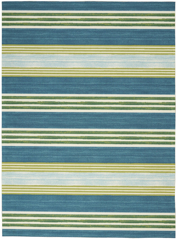 Waverly Sun N Shade SND71 Green/Teal Area rug