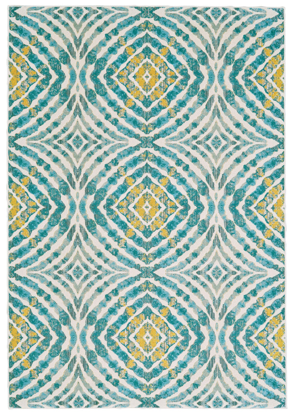 Feizy KEATS 652-3469F TEAL Area Rug - The Rug Store