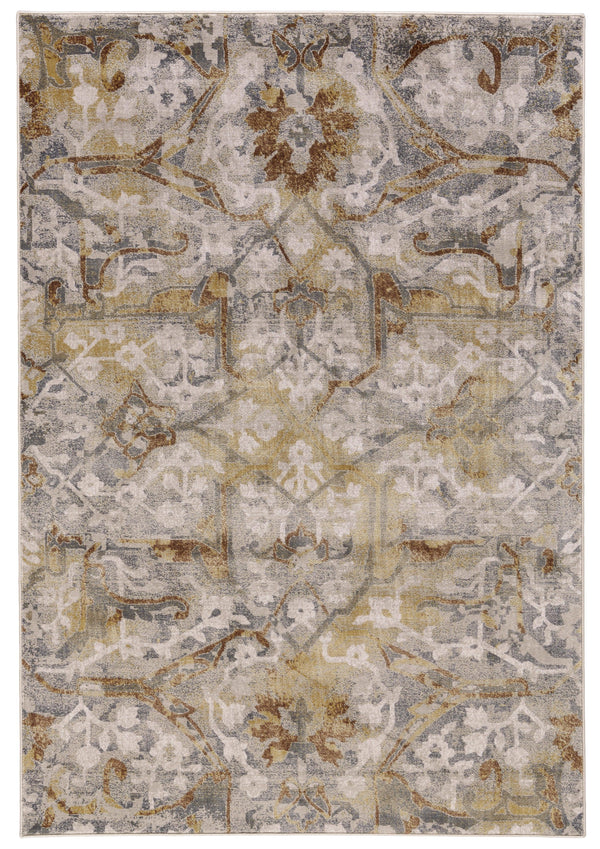 Feizy CANNES 672-3685F GRAY / YELLOWArea Rug - rug store usa
