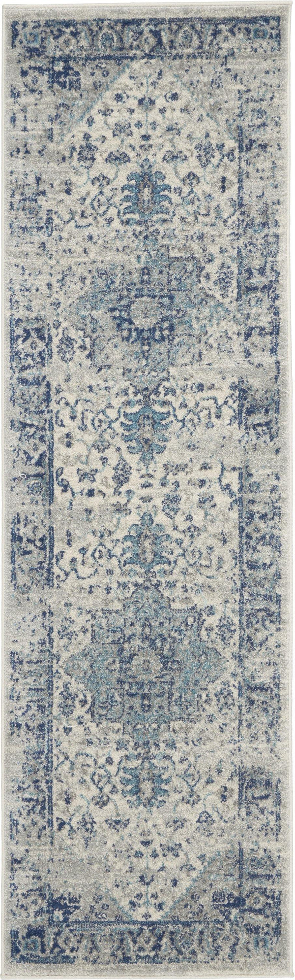 Nourison Tranquil TRA06 Ivory/Light Blue Area rug