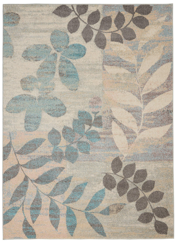 Nourison Tranquil TRA01 Ivory/Light Blue Area rug