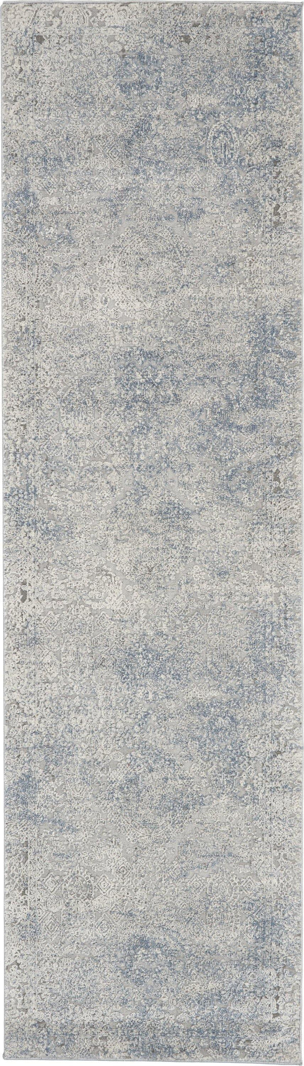 Nourison Rustic Textures RUS09 Ivory/Light Blue Area rug