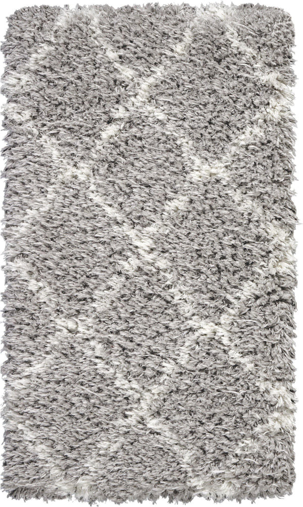Nourison Luxe Shag LXS02 Grey/Ivory Area rug