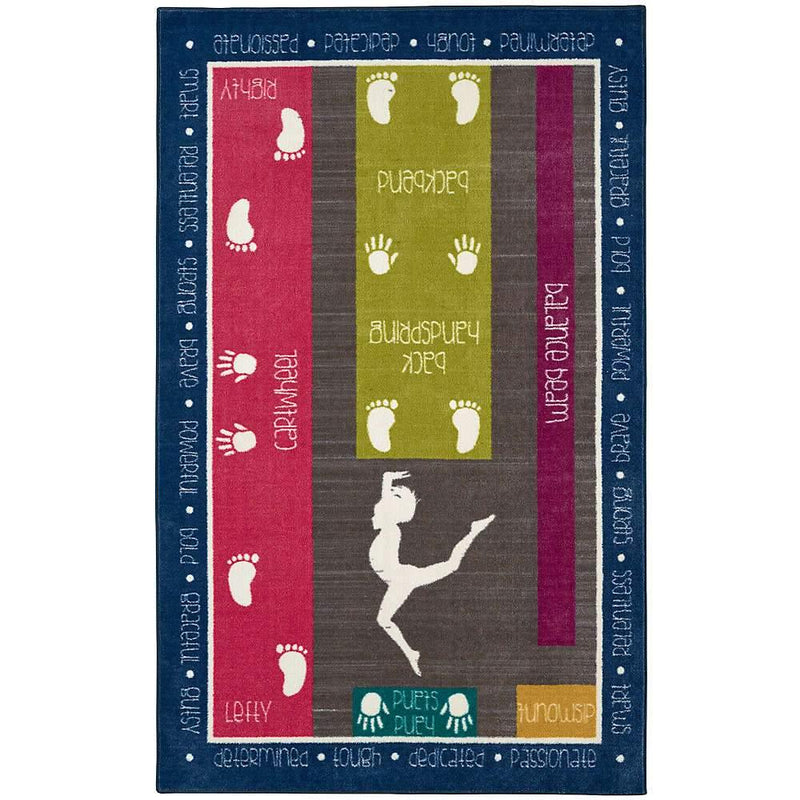 Mohawk Aurora (Kids) Gymnastics Fun Multi 12384-416 Area Rug