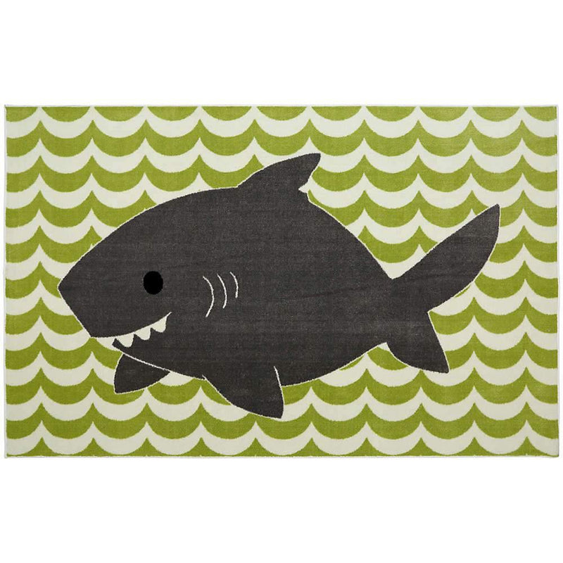 Mohawk Aurora (Kids) Smiling Shark Lime Green 12395-447 Area Rug