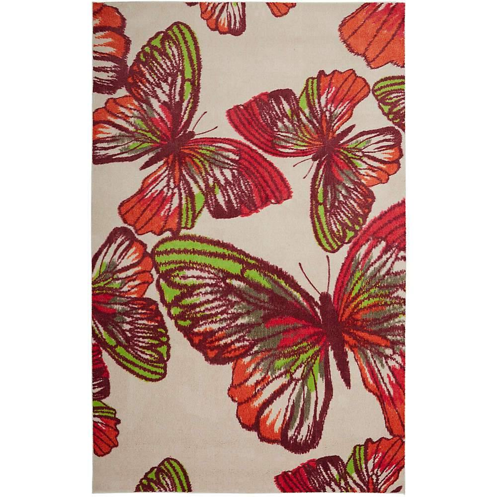 Mohawk Prismatic Urban Paradise Pink Z0282-A419 Area Rug
