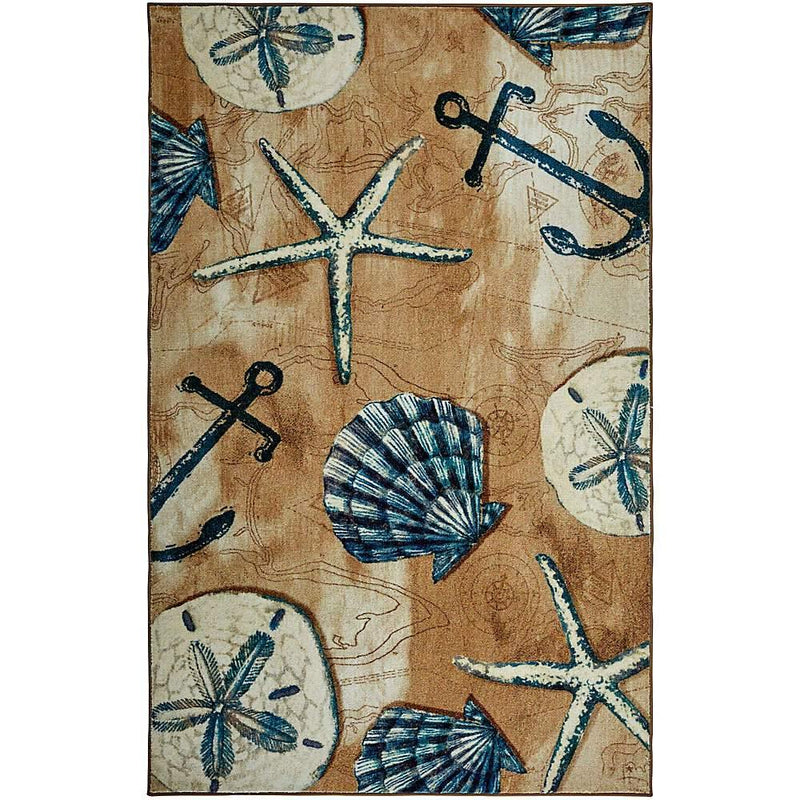 Mohawk Prismatic Tide Pool Shells Sand Z0303-A217 Area Rug