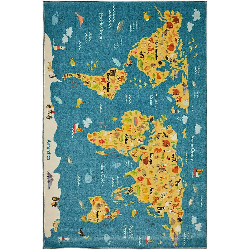 Mohawk Prismatic Animal Map Multi Z0369-A416 Area Rug