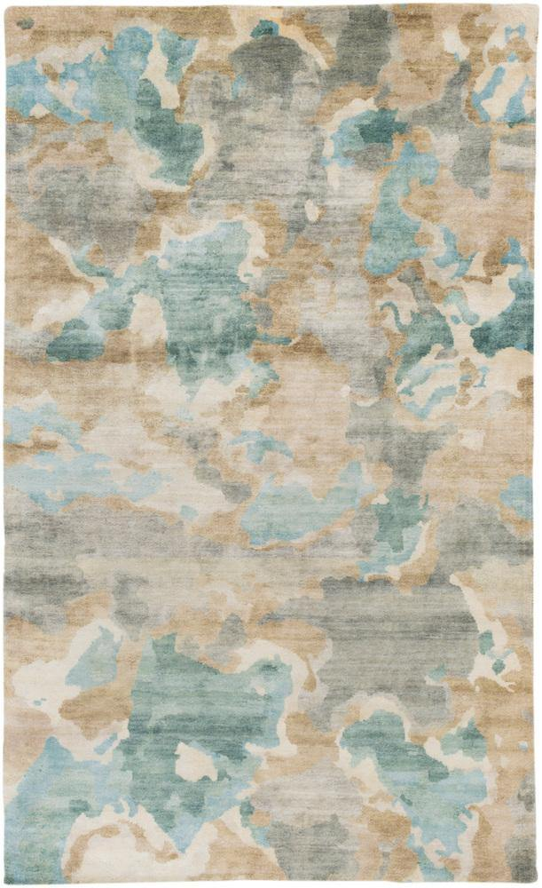 Candice Olson Slice of Nature SLI-6407 Ice Blue Area Rug