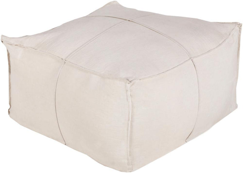 Surya Solid Linen SLPH-001 Ivory Pouf