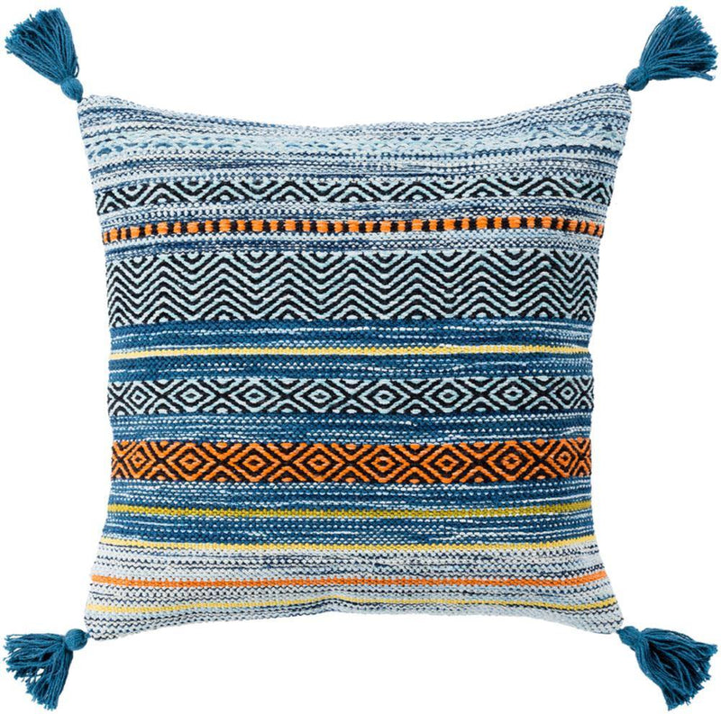 Surya Trenza TZ-005 Bright Blue Pillow Cover