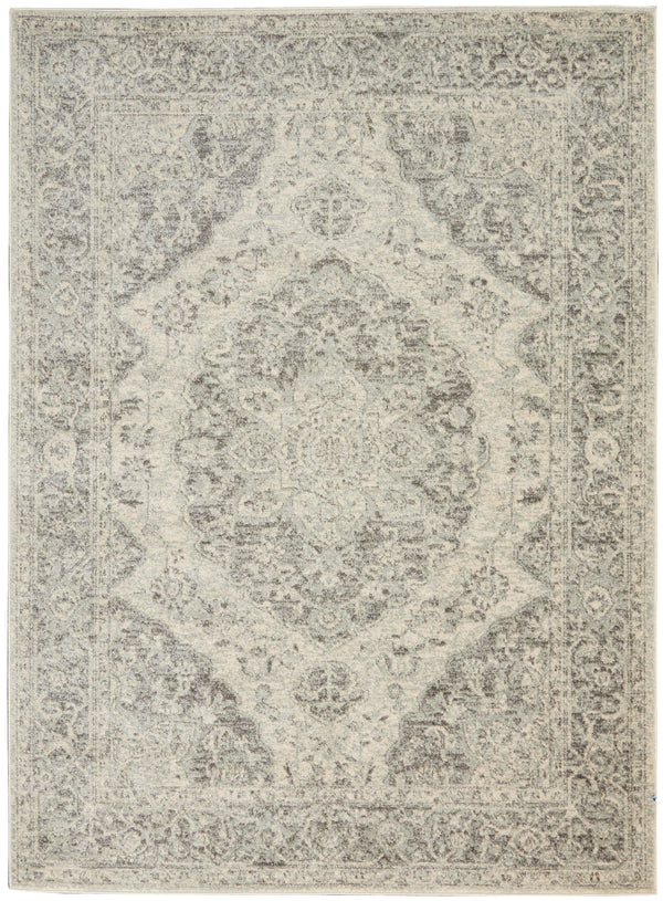 Nourison Tranquil TRA05 Ivory/Grey Area rug