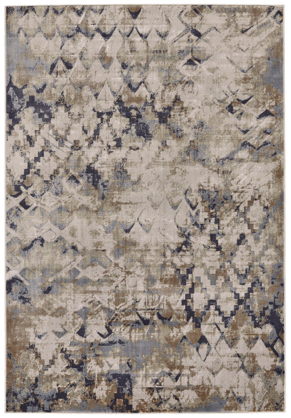 Feizy CANNES 672-3688F BLUE/BEIGE Area Rug - The Rug Store