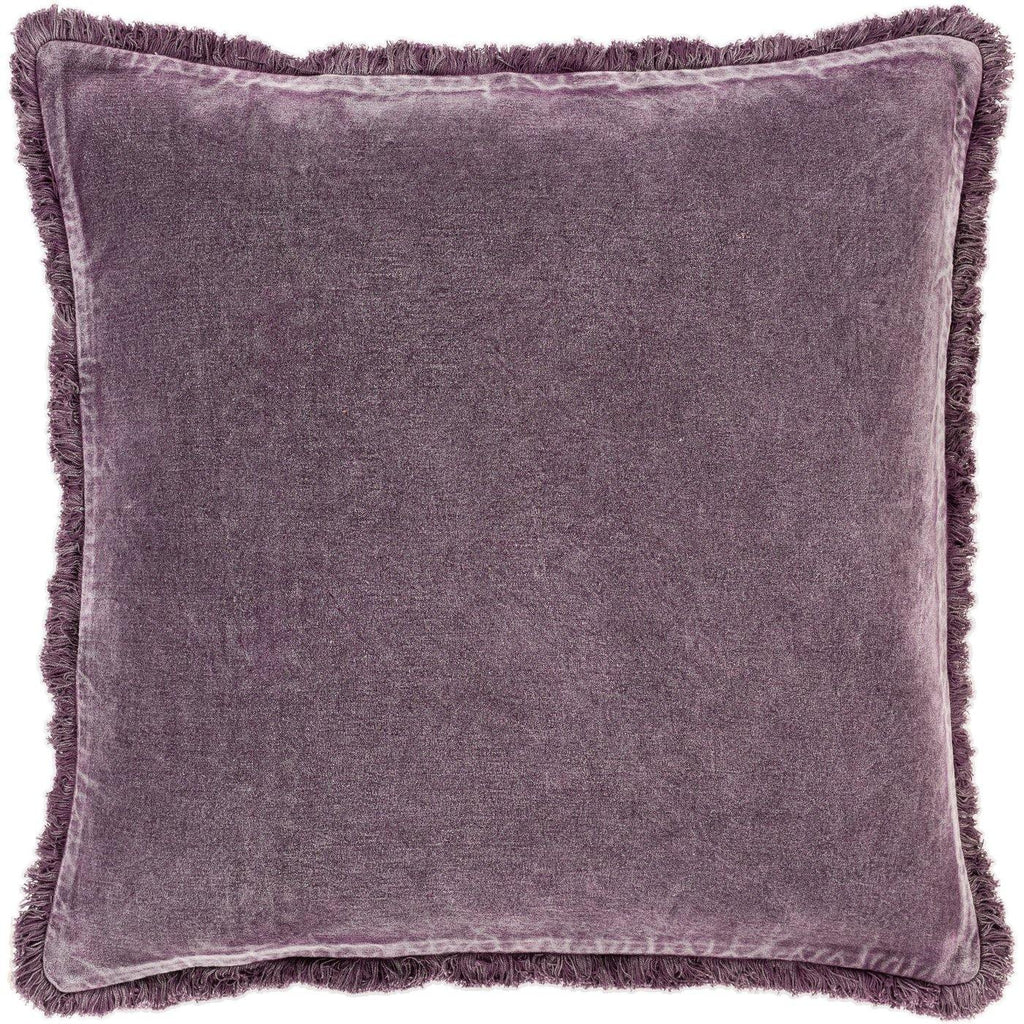 Surya Washed Cotton Velvet WCV-006 Bright Purple Pillow Cover