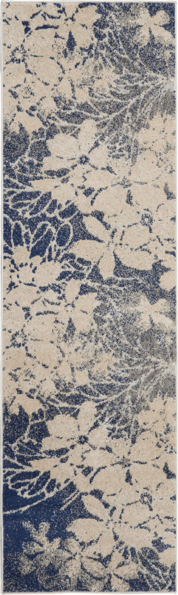 Nourison Tranquil TRA08 Beige/Navy Area rug