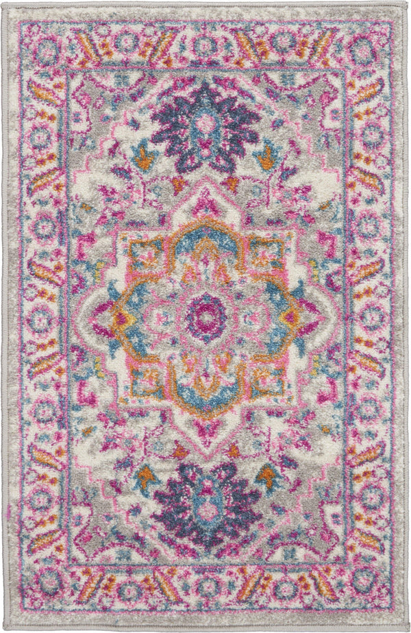 Nourison Passion PSN20 Light Grey/Pink Area rug