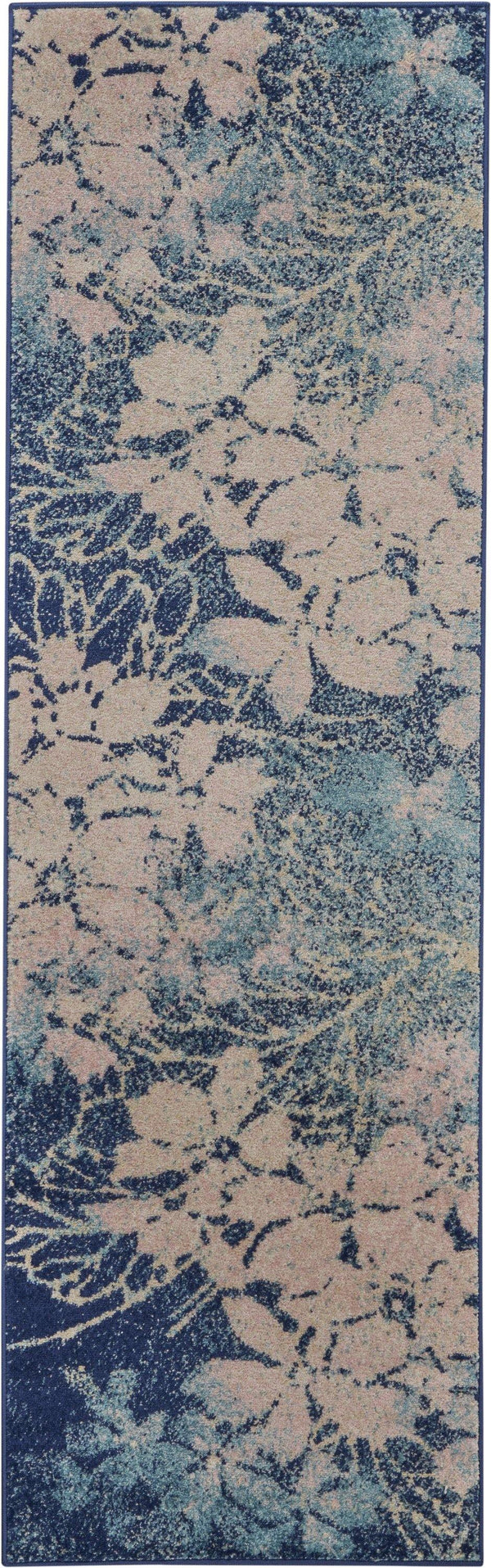 Nourison Tranquil TRA08 Navy/Pink Area rug