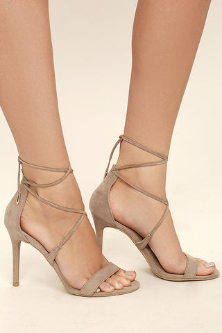 NEW AIMEE SUEDE LACE-UP HEELS
