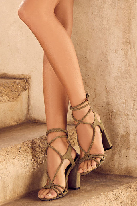 OPHELIA SUEDE LACE-UP HEELS